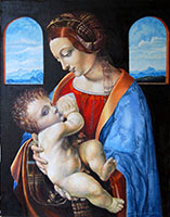 Мадонна Лита  Леонардо да Винчи. (60х50,  копия. Н.Резник)