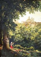 Аричча близ Рима. М. Лебедев,  (30х40 копия, Н.Резник)
