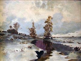 Март, русский художник, (копия30х40 Н.Резник)