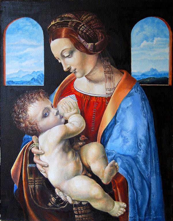 Мадонна леонардо да винчи картинки