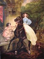 Всадница. К.Брюллов. (73х53,копия, Н.Резник)