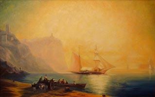 Море. И.К. Айвазовский, (90х 60, копия, Н.Резник)