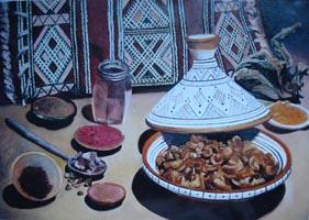 Натюрморт с грибами, открытка 30х400,0 копия, Н.Резник