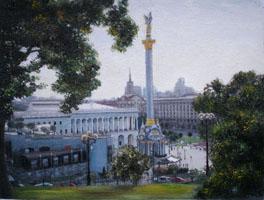 Майдан незалежності  30х40, Н.Резник
