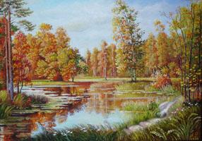 Осень на Сев. Донце. 35х50, Н.Резник